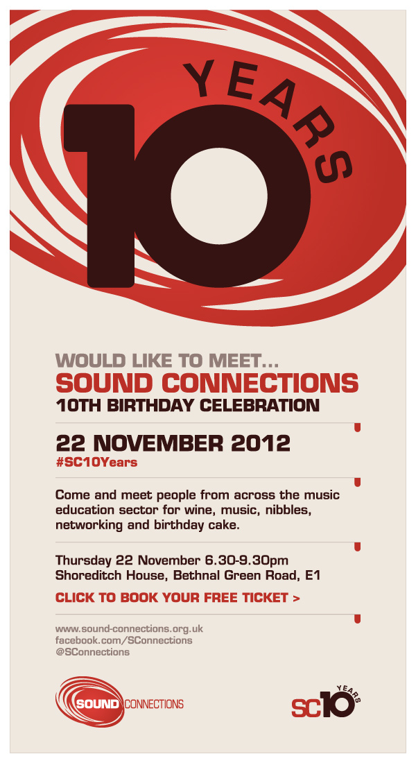Sound connections 10th birthday invitation filmwisefo